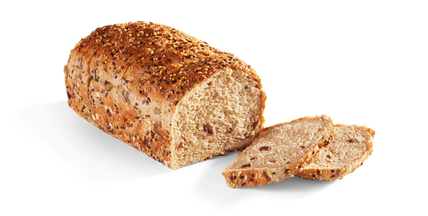 Cranberry bread sliced for ecommerce