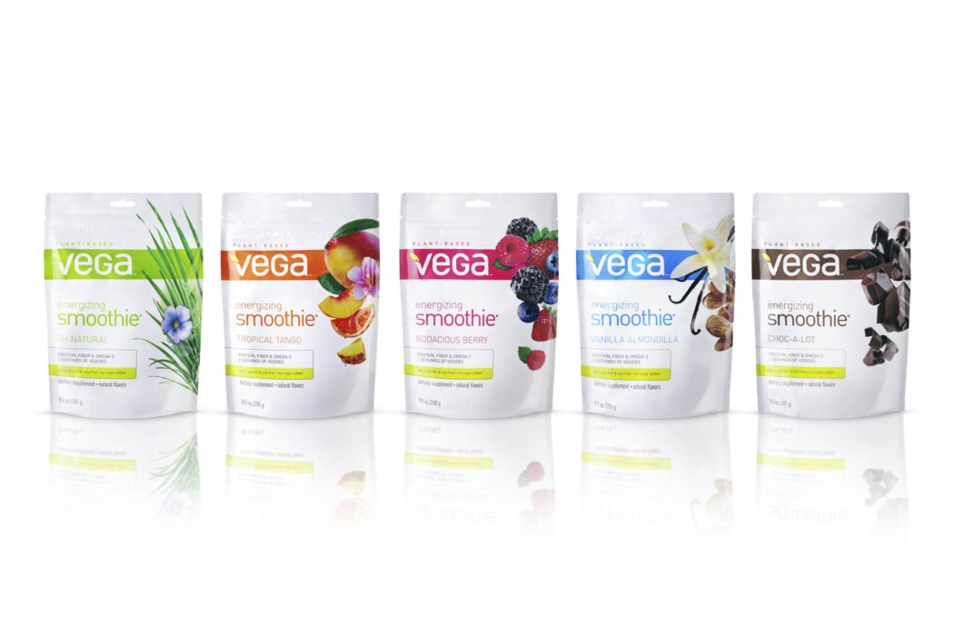 vega packaging on white background