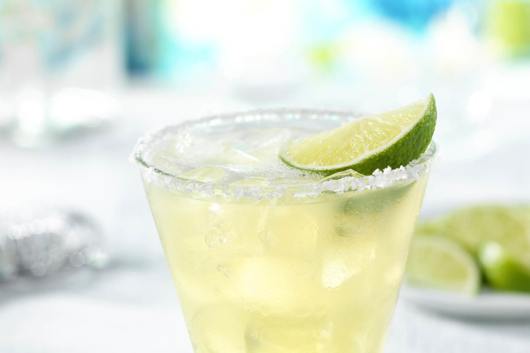 cocktail drink with salt and lime