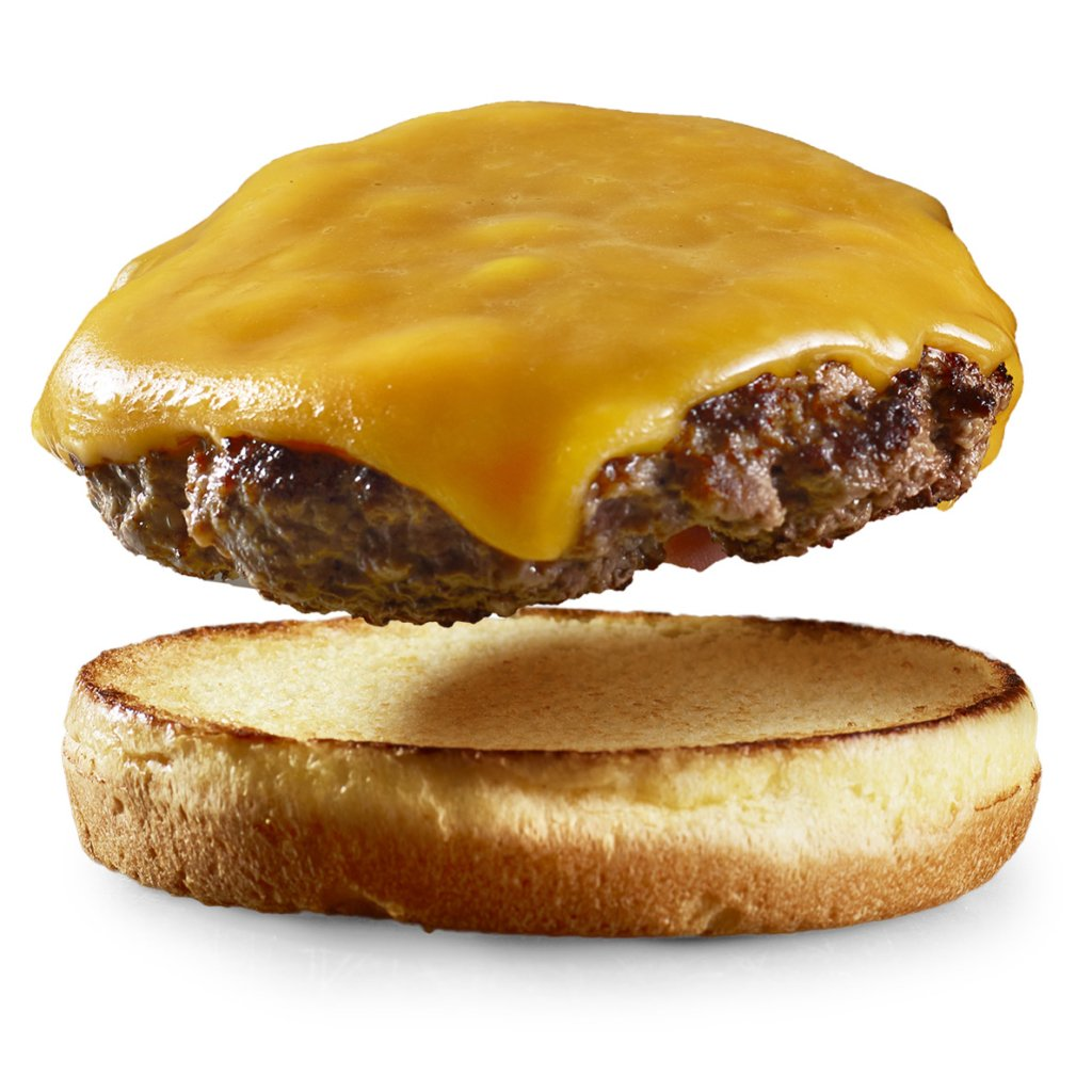 cheese burger and bun