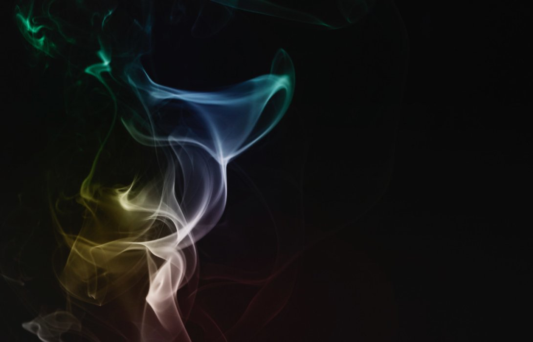 Image of swirling smoke on black background alternate