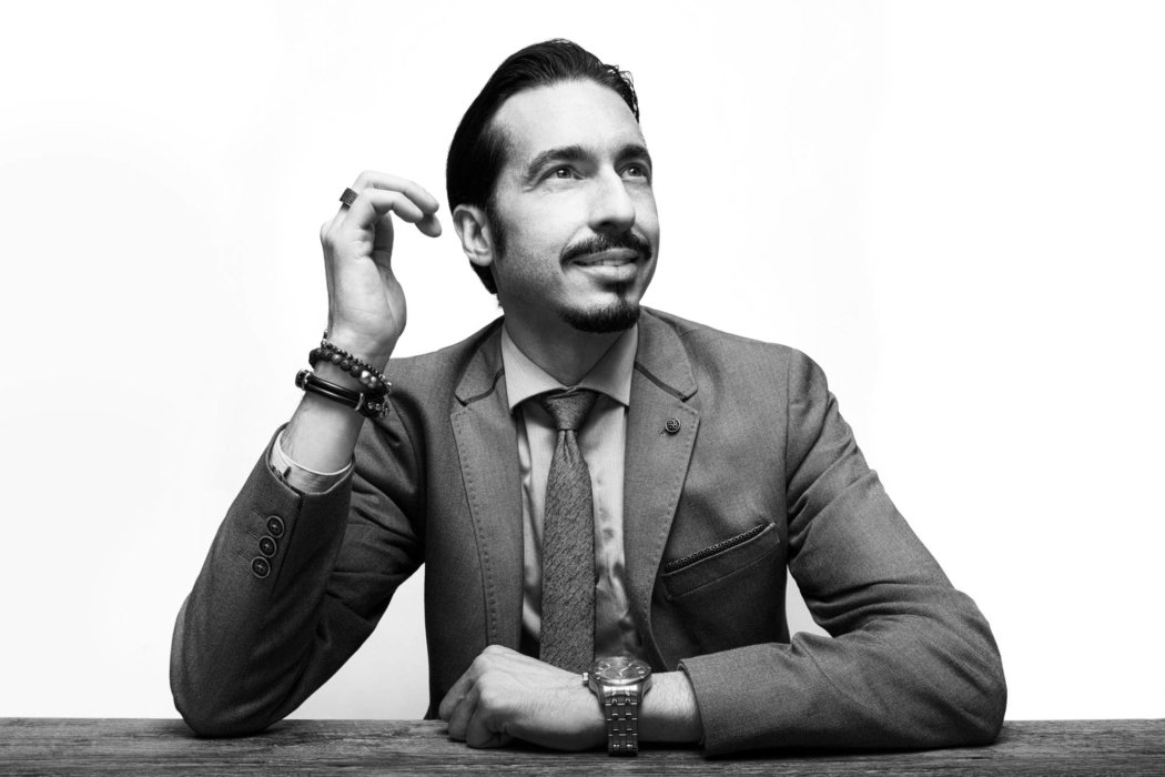 Portrait of a young business man with goatee