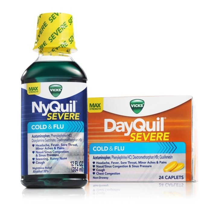A product image of NyQuil and DayQuil | Healthcare Photographer