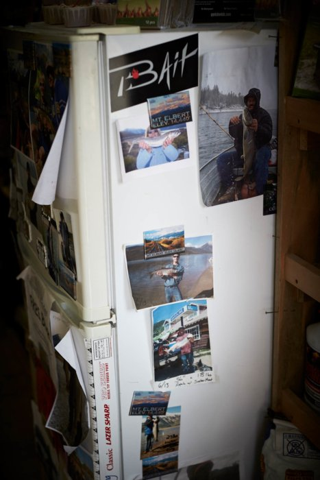 Fishing trip bait shop fridge
