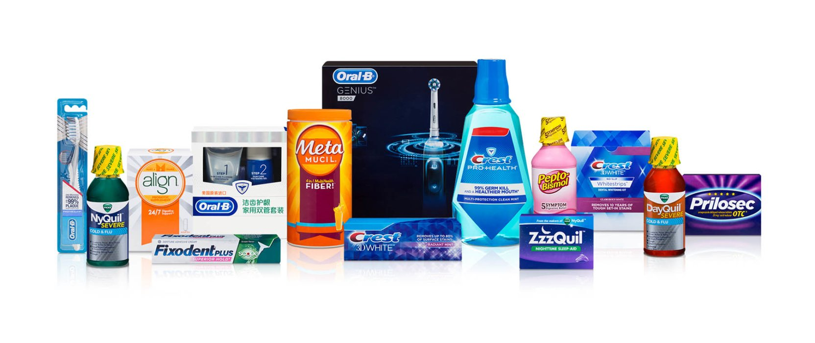 A family of P&G products around personal health