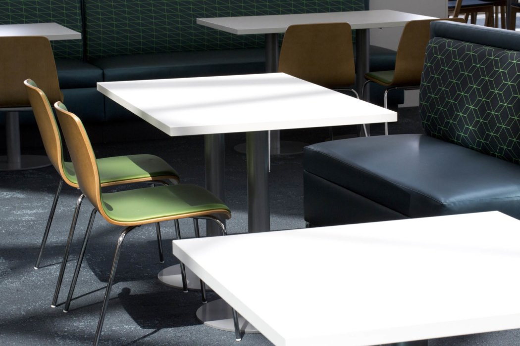 Set of tables and chairs at P&G
