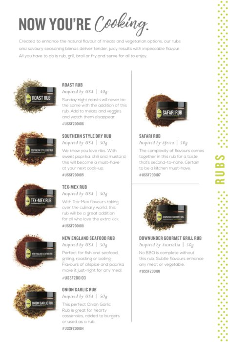 Herbs in a catalog