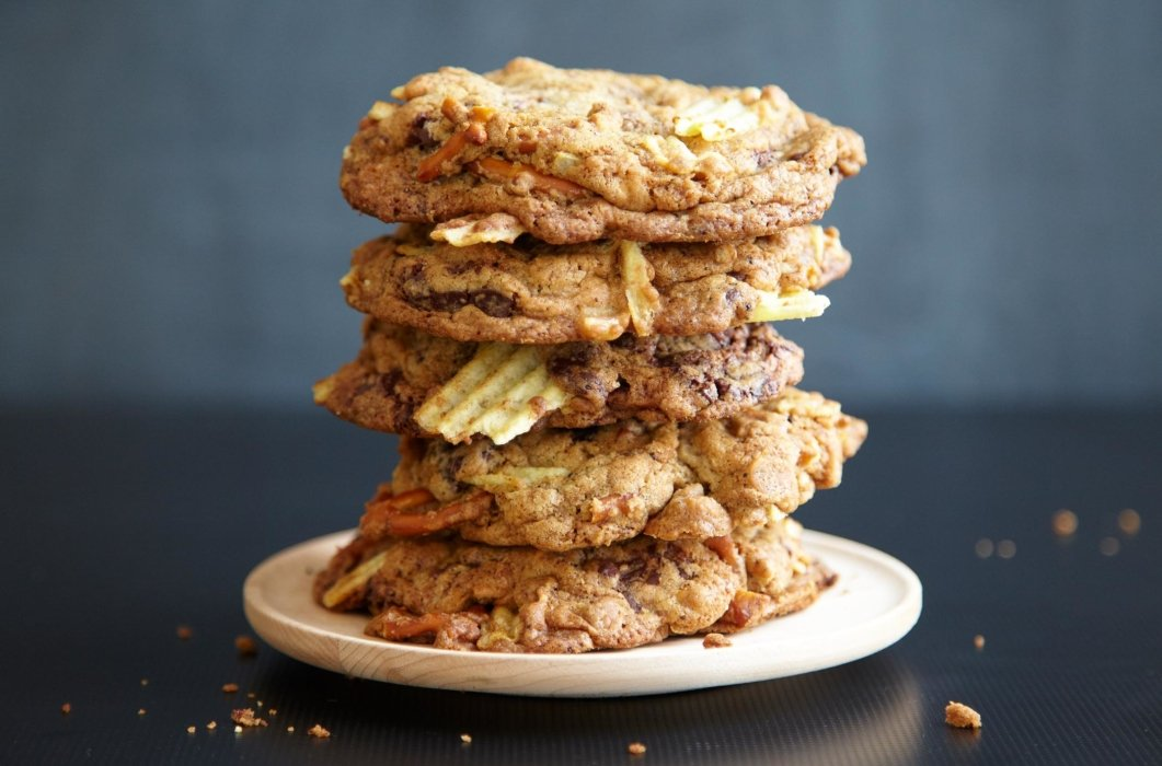 Stack of tasty cookies