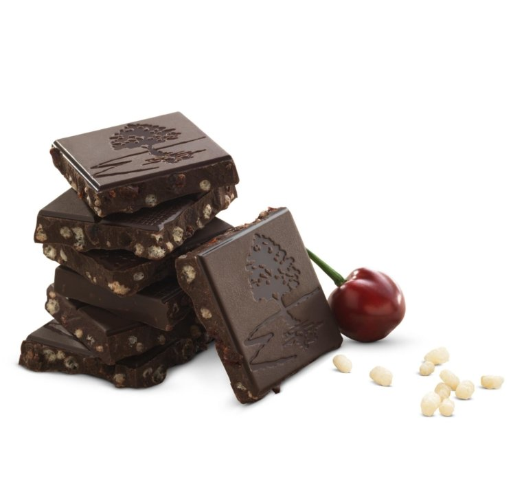 Chocolate with cherries and nuts