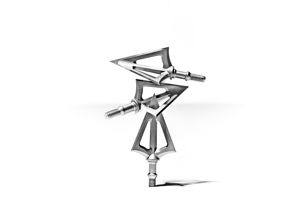 Steel arrowhead on a white background for ecommerce