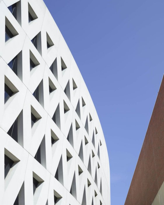 Modern architecture with triangles