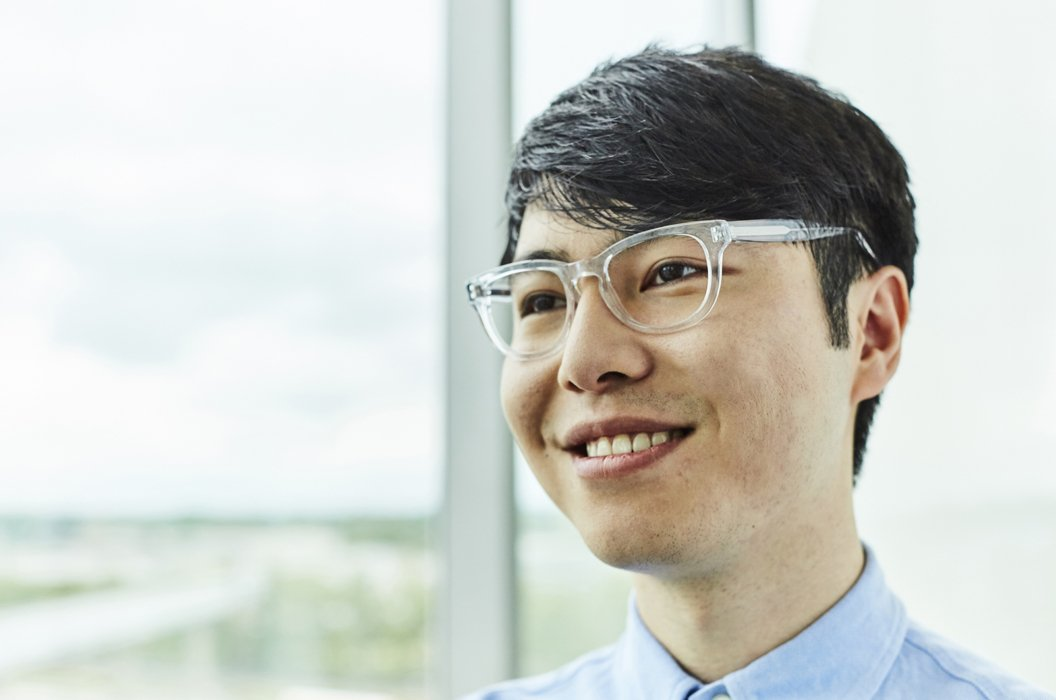 A corporate man with glasses portrait
