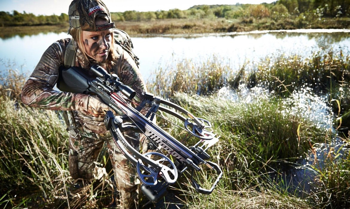 Female hunter with a crossbow