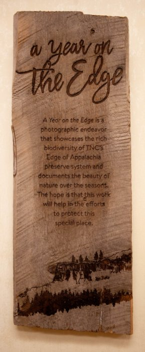 A year on the edge plaque
