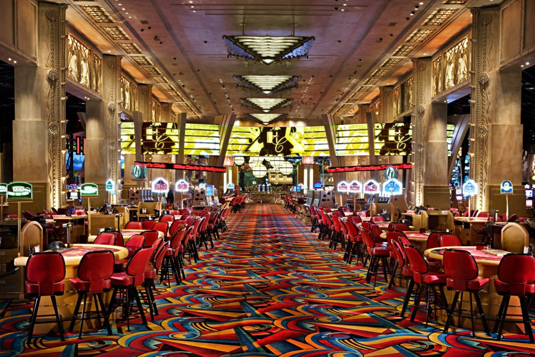 The architecture of gambling area tables