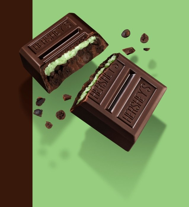 A hershey's chocolate crunch mint - chocolate photography