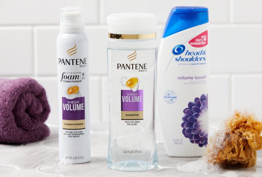 Pantene shampoos and head and shoulders