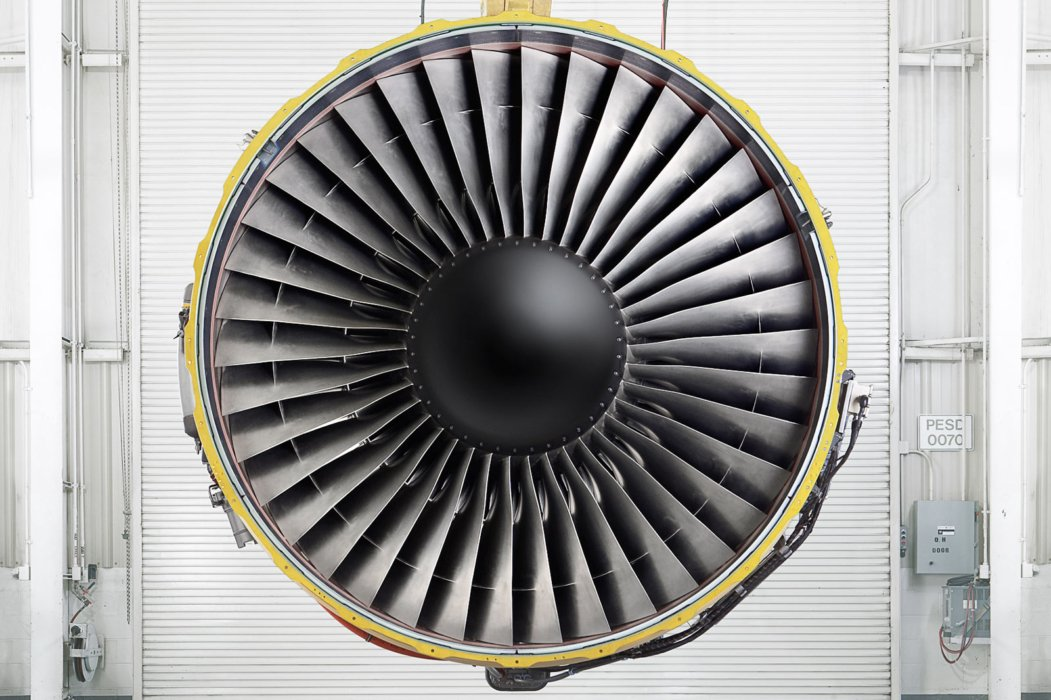 GE Aviation turbine front facing