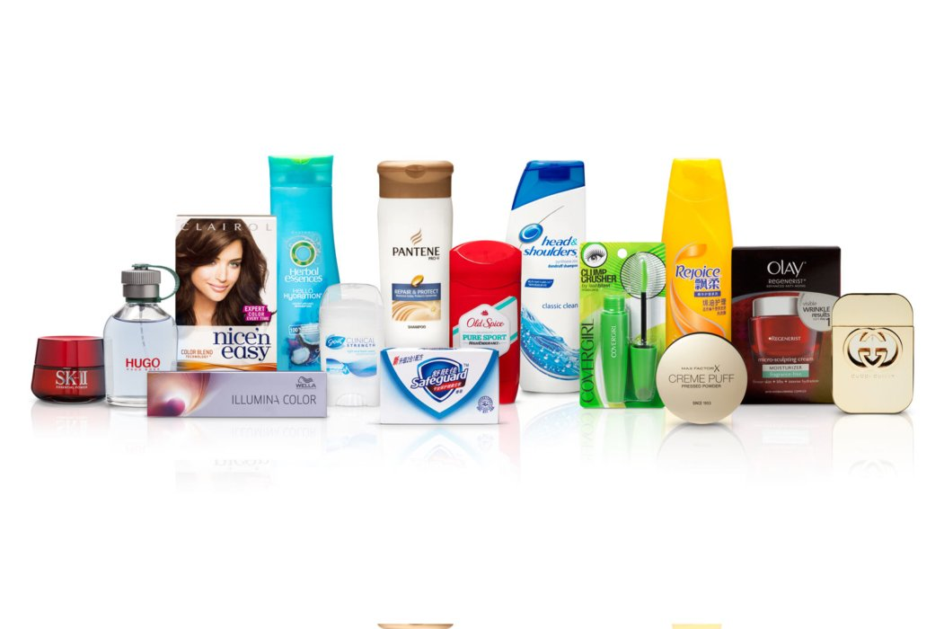P&G family of personal care products