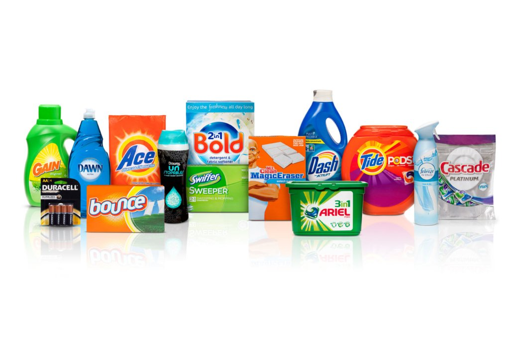 P&G family of cleaning products