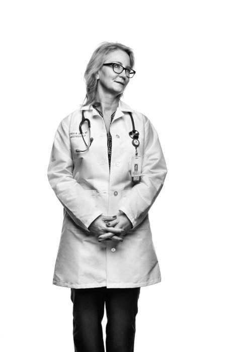 Portrait of a female doctor standing