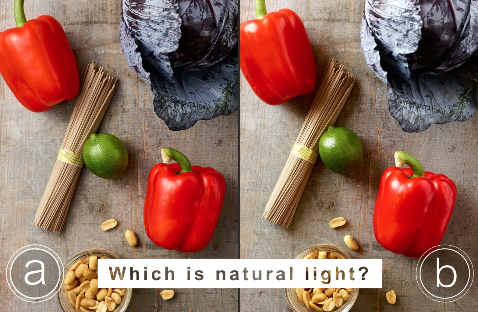 Which of these photos is natural light?
