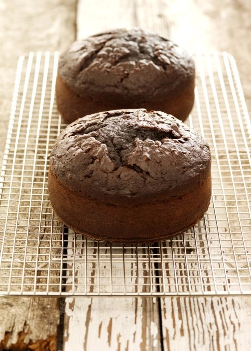 Baked chocolate bread