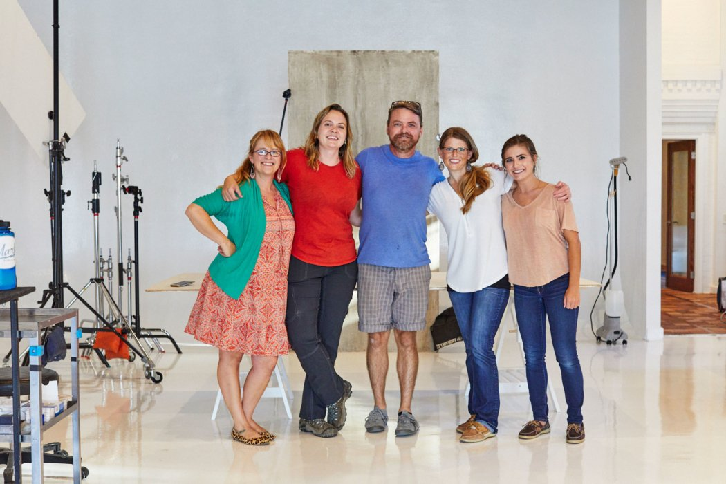 A group shot of Matt Witherspoon and team for Klosterman baking shoot