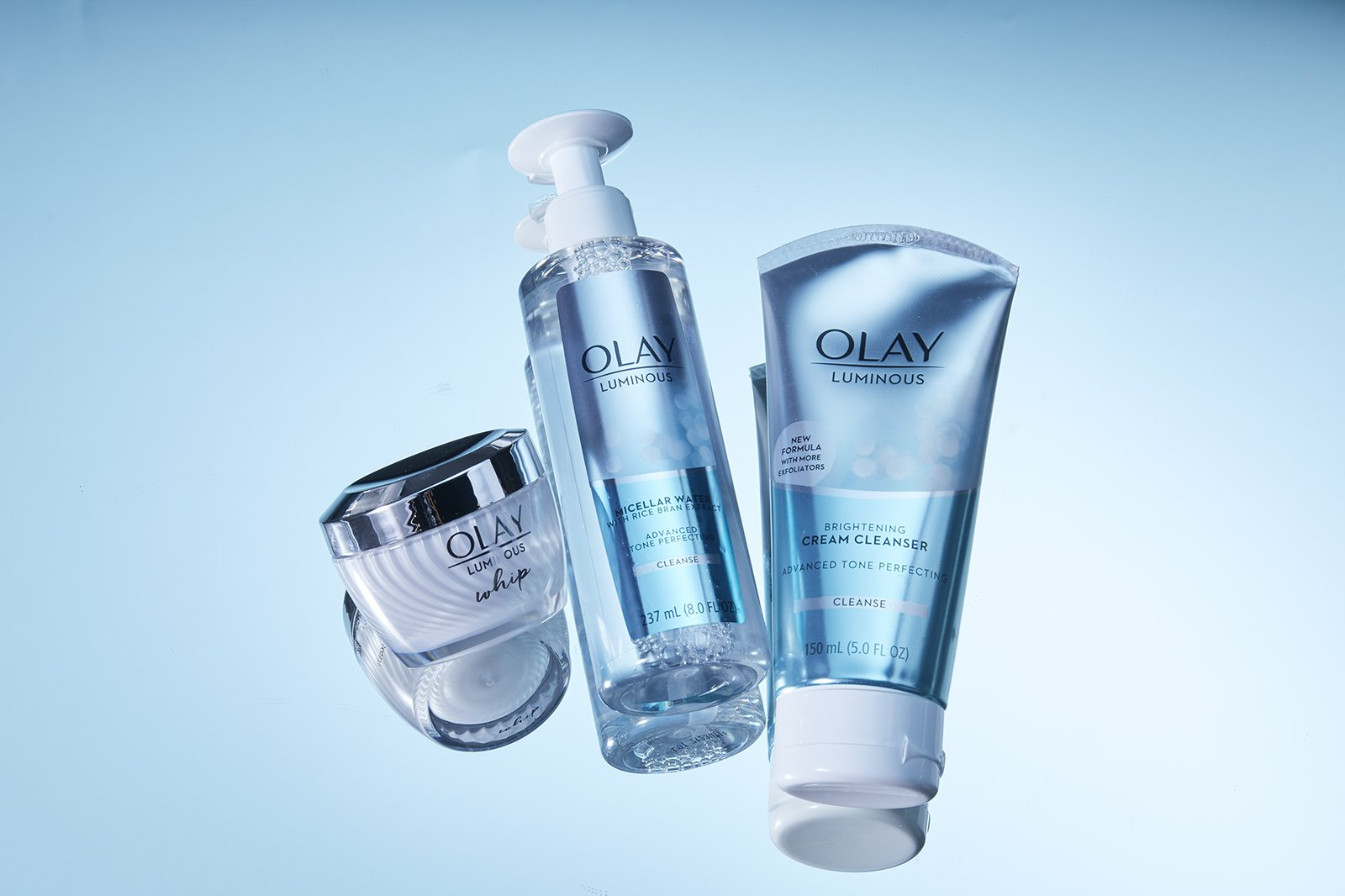 Olay product family before retouching