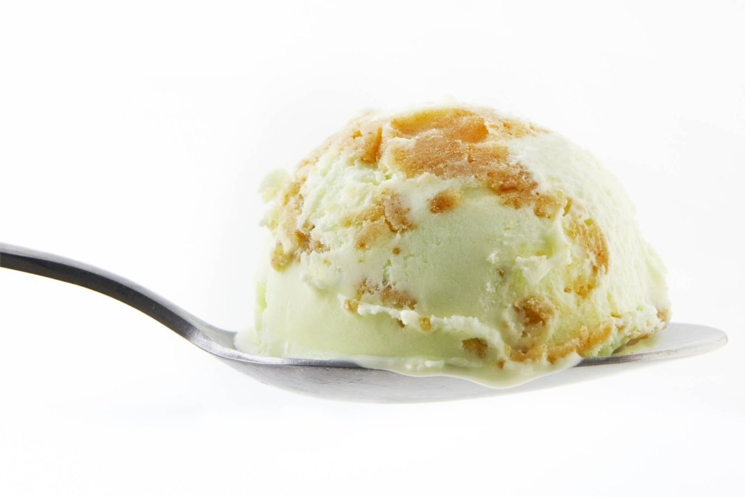 Food photography - ice cream on a spoon