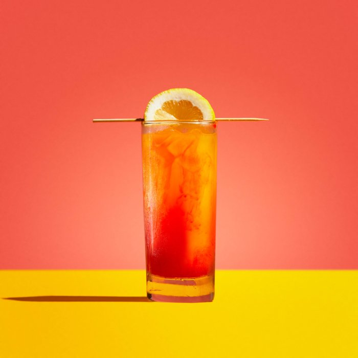 Tequila Sunrise - Drink Photography - Modern - blue