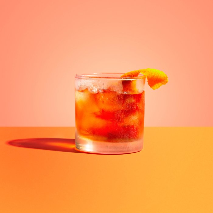 Old fashioned - Drink Photography - Modern - blue
