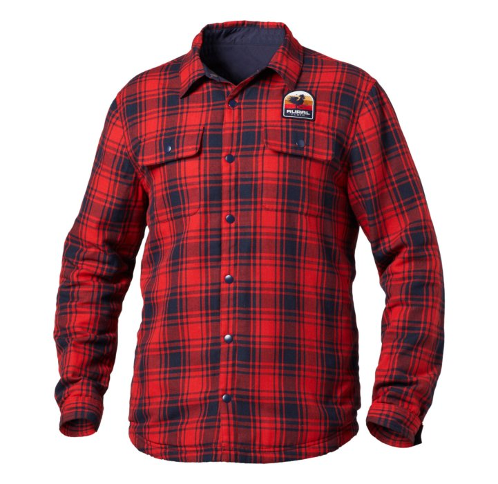 A hollow-man ecommerce photo of a rural cloth flannel shirt - apparel photography