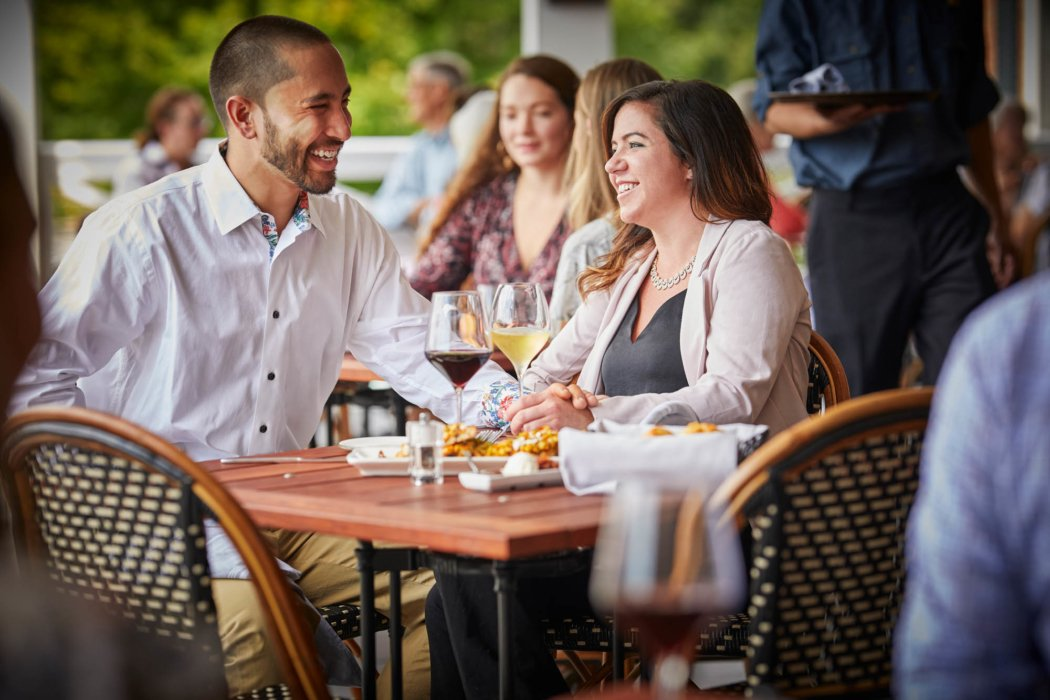 A couple at a nice dinner restaurant - Food lifestyle photography