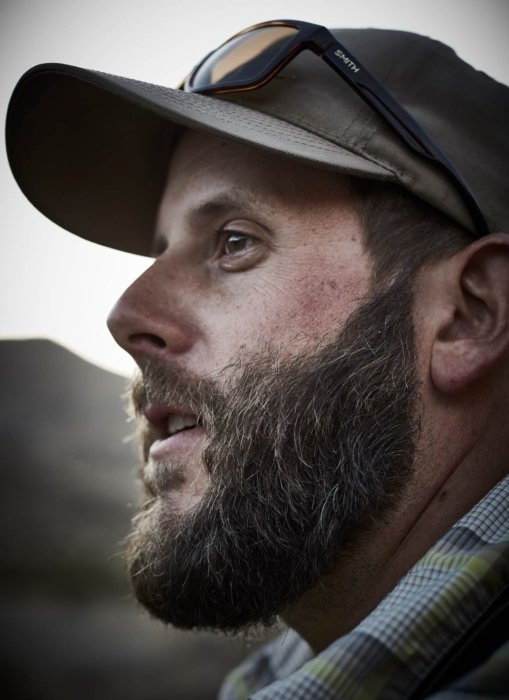 Portrait of a fisherman with a thick beard