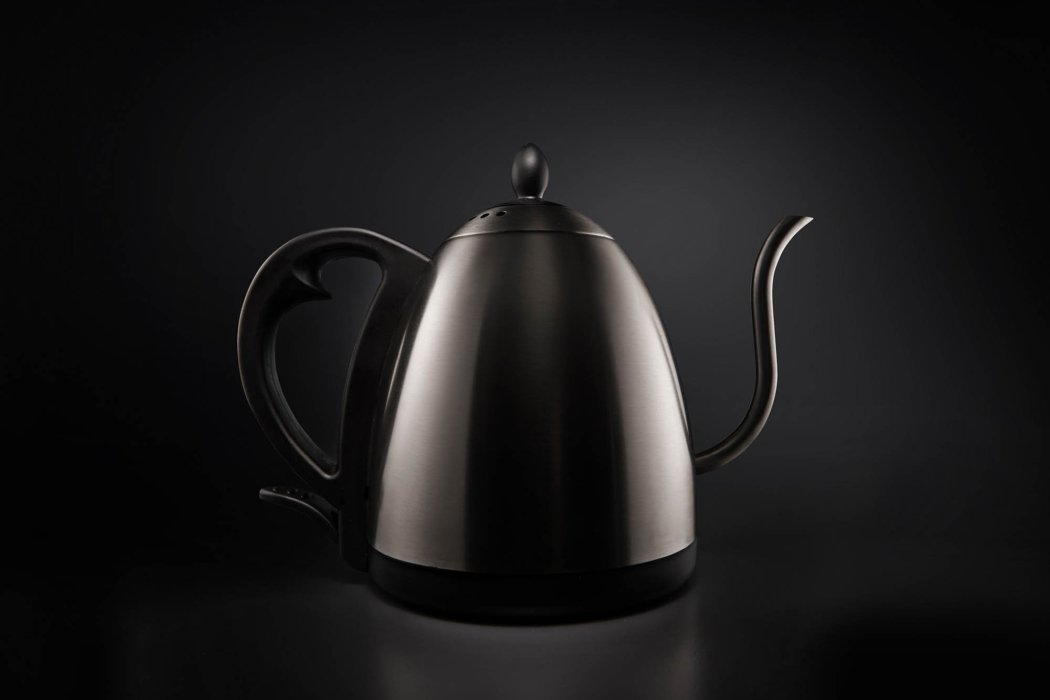 A stove top kettle with pour over spout