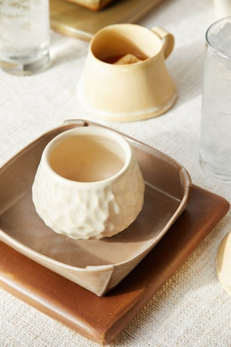 Hand crafted fine pottery mugs and plates