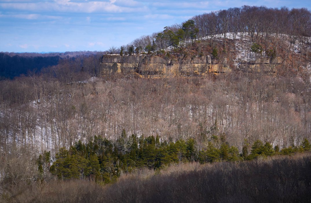 The buzzard roost rock of the edge of Appalachia preserve - Nature Photography