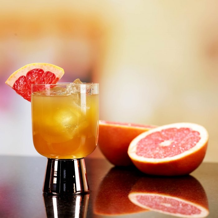 Blood orange whiskey cocktail - drink photography