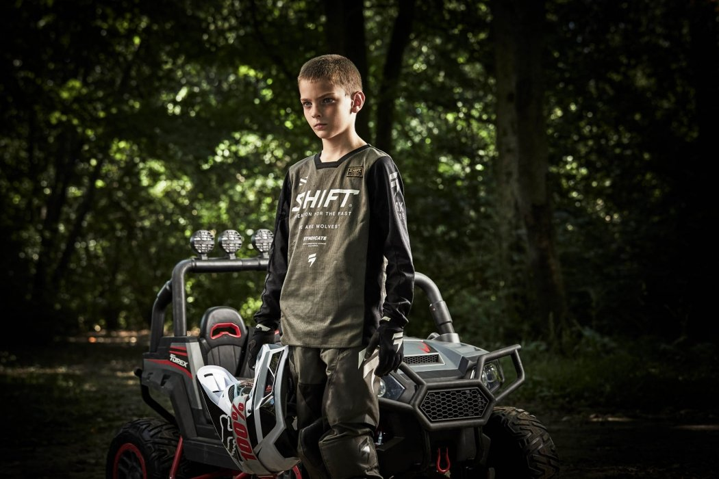 Portrait of a teenage and ATV