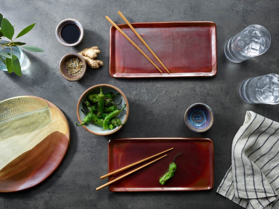 High end pottery ceramic plates and bowls - product photography
