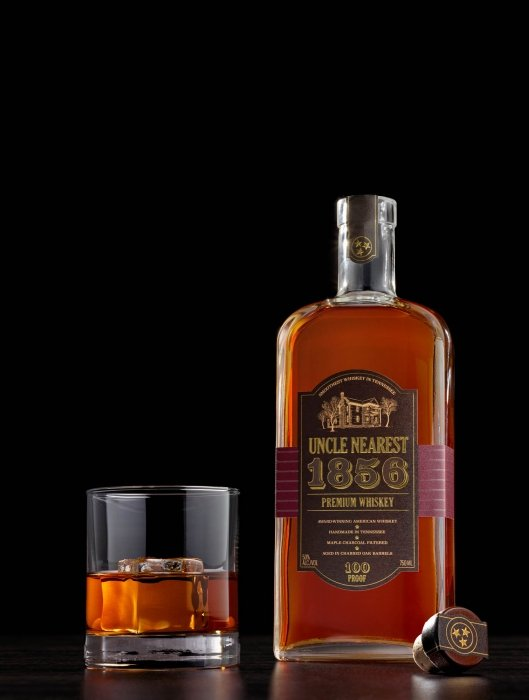 Uncle Nearest Liquor Bottle whiskey - drink photography