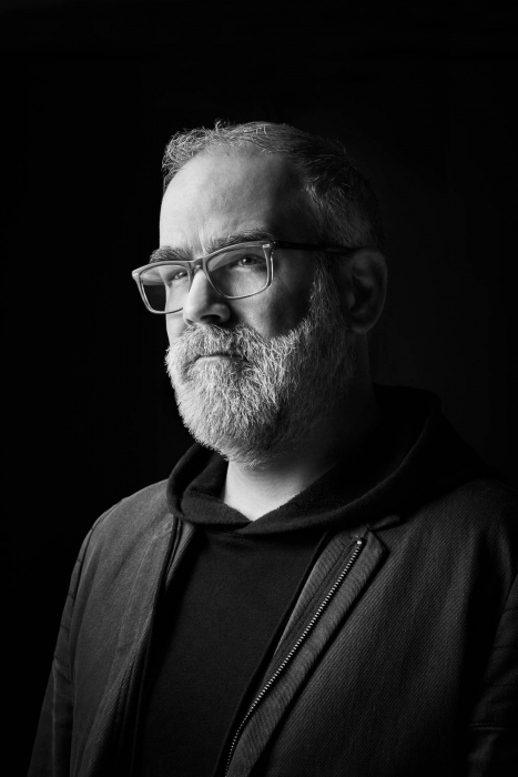 Portrait of a professional business man with glasses in black and white