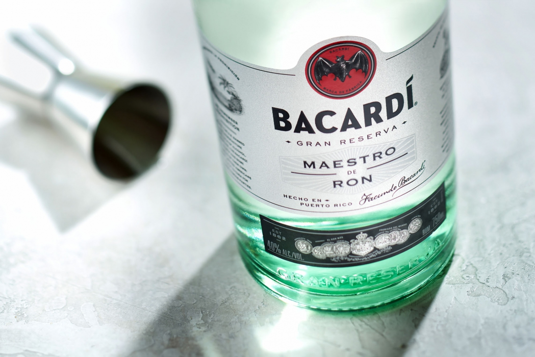 Bottle of Bacardi Gran Reseva rum - Drink liqour photography