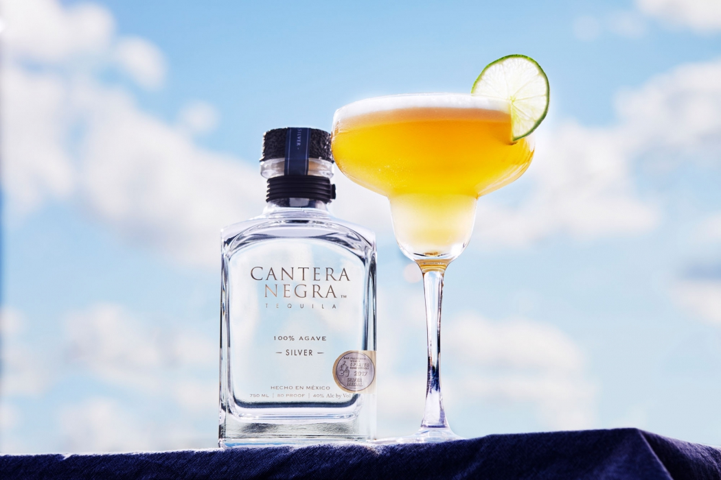 Silver tequila with a tequila sour cocktail - Cantera Negra Tequila - Drink Liquor Photography