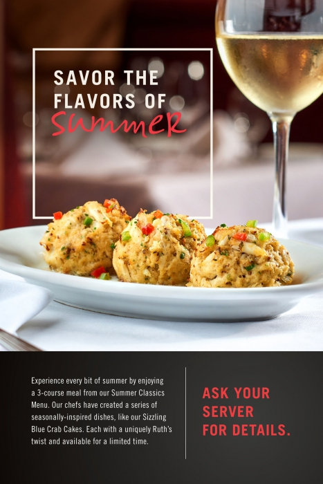 Three crab cakes and white wine high end in advertising - food photography